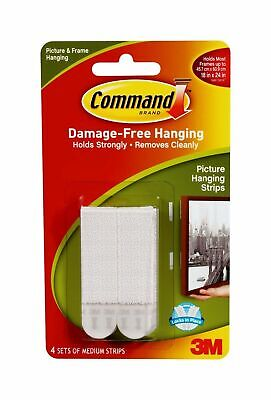 3M Command Picture Frame Hanging Adhesive Stickon Strips - Medium