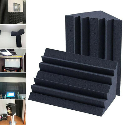 H Soundproofing Foam Acoustic Bass Trap Corner Absorbers For Meeting Studio Room