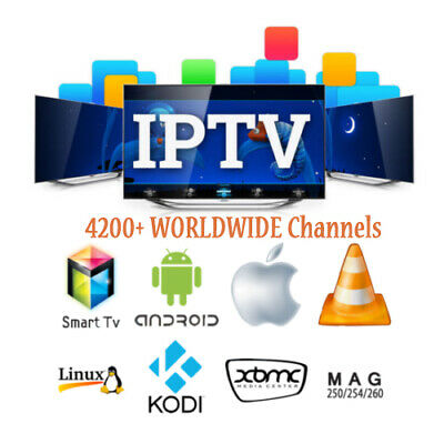 IPTV Subscription WORLDWIDE 4200+Ch HD For SMART IPTV