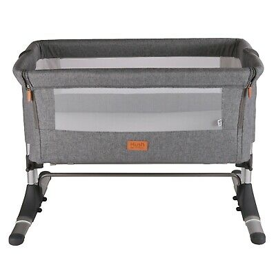 Venture Hush Side Sleeping Bedside Crib - Anthracite Grey