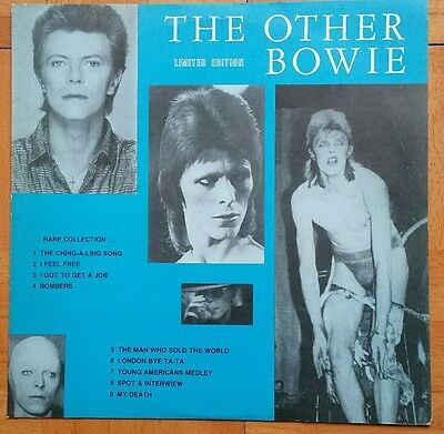 DAVID BOWIE - THE OTHER BOWIE limited UK 1984 black vinyl promo white label RARE
