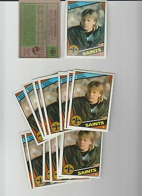 1988 Topps #300 Morten Andersen RC rookie card, New Orleans Saints, Hall of Fame