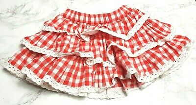 MOTHERCARE Baby GIRLS SKIRT Age 3-6 Months Red Gingham Ruffles