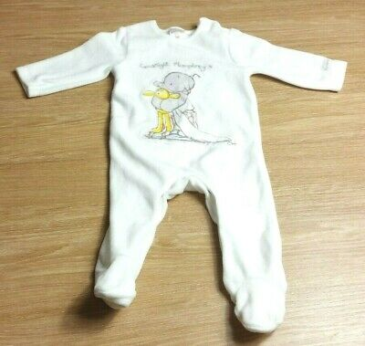 HUMPHREYS CORNER Baby GIRLS SLEEPSUIT Age 0-3 Months White DESIGNER
