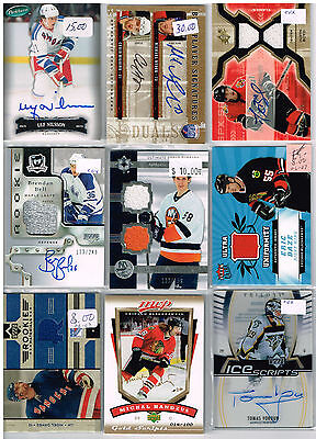 HUGE Lot Of 2006-07 Autos - Game Used - Rookies - Parallels - Inserts - Base