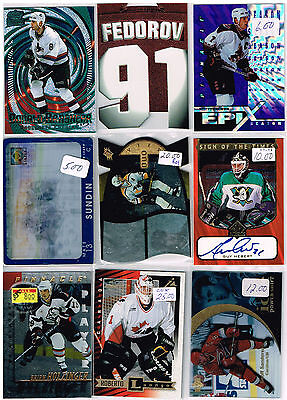 HUGE Lot Of 1997-98 Autos - Rookies - Parallels - Inserts - Base