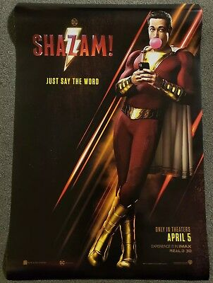 Shazam 27x40 Double Sided Movie Theater Poster DC