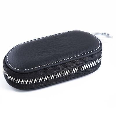 PU Leather Car Key Chain Ring Keychain Case Holder Zipped Bag Purse Pouch LJ
