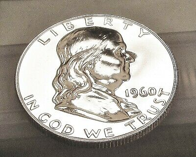 1960  Franklin   Choice  Proof   90%   Silver  >Coin  as  Pictured<  #412  7