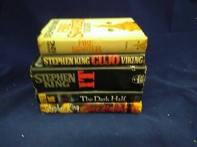Lot of 5 STEPHEN KING Hardcover Books with Dust Jacket - Viking publisher