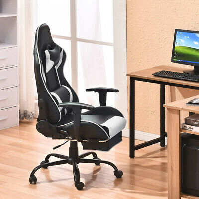 Swivel PU Leather Office Racing Sport Gaming Style Tilt Computer Desk Chair New