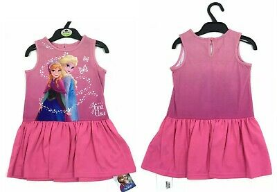 New Ex M*S Girls Disney Frozen Elsa Anna Pink Nightie Nightdress Pjs Pyjamas
