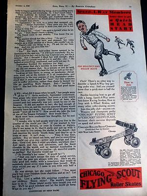 October 4, 1930 Magazine Page #S362- Chicago Flying Scout Roller Skates