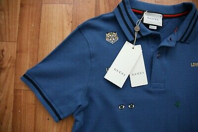 b9680954a GUCCI POLO INDIGO T Shirt Mens New Size 3Xl Genuine Tags 100% Cotton ...