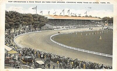 York PA~Fair Grounds~New Grandstand & Horse Harness Race Track~Tickets~1928 PC
