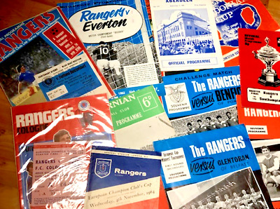 14 Rangers  Programmes 1963 -1997 Some With Tickets.  You Choose