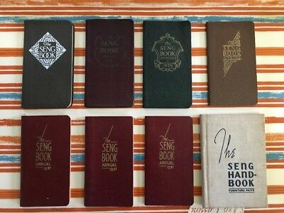 EIGHT Vintage Annual Seng Furniture Books, 1924-1940!