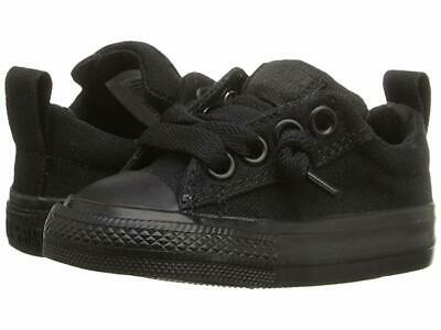 Converse Chuck Taylor Street Ox Infant Baby Toddler Shoes Black//White 726090F