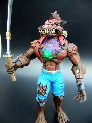 """mexican toy FORTNITE WEREWOLF 7.5 """" H brown wLight Figure action toy game"""
