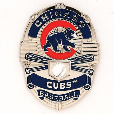 Chicago Cubs Badge Collector Pin Brand New Free Shipping Wincraft
