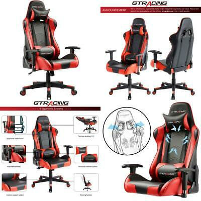 Gtracing Gaming Chair Racing Office Computer Game Chair Ergonomic Backrest And S