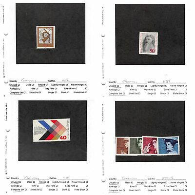 Lot of 23 Germany MH Mint Hinged Stamps Scott Range # 1094 - 1296 #141159 X R