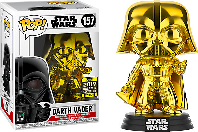 Funko Pop! Star Wars - Darth Vader Gold Chrome #157 (2019 Galactic Convention)