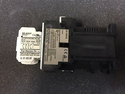FUJI Mechanical Magnetic Contactor SC-E02/G 24 VOLT COIL W/ AUX CONTACT SZ-A22/T