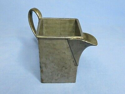 Art Deco Hand Hammered English Pewter Milk Jug