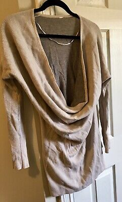 15a5c28d772 LULULEMON SERENITY SWEATER 8 Cowl Drape Neck Ribbed Knit Reversible Tunic  Dress