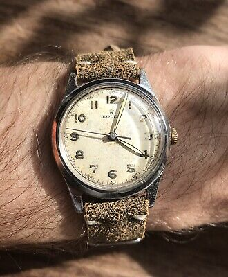 Vintage 1940s Rolex Gents Watch / Fully Serviced + Working / Box Included