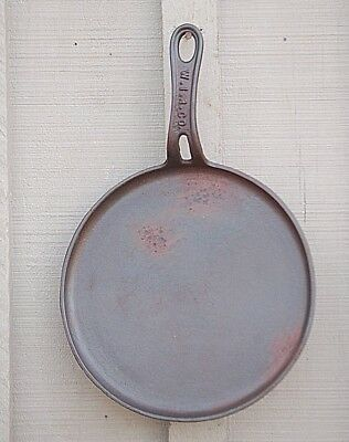 Antique WIR Co. Cast Iron Round Flat Griddle Wood Stove Tool Vintage Cookware