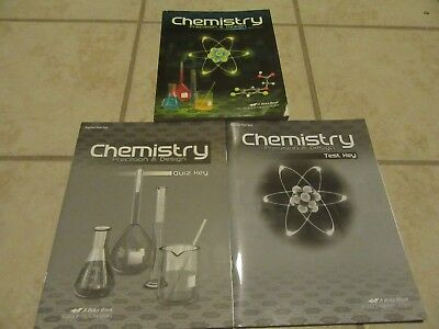 Abeka   Chemistry  11th Grade 11    CURRENT Edition SET   SAVE over $30.00