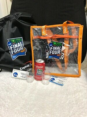2019 NCAA Men's Basketball Final Four 2 Tickets/2 Bags/2 Shot Glasses/1 Can Coke