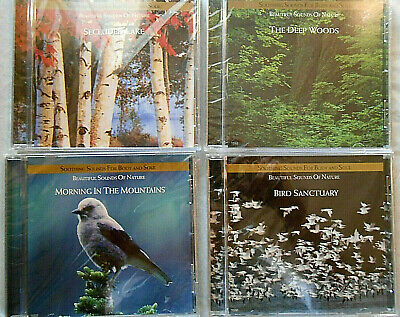 NEW Lot of 4 Soothing Sounds CDs ~ Deep Woods, Secluded Lake, Bird Sanctuary +