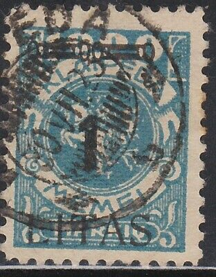 #N59, Memel 1L Surcharge on 1000M Lighthouse VF-F Used, CV $65.00 (Lithuania Occ