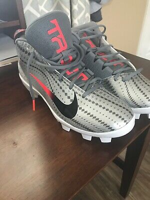 info for 80b0a eb024 New Nike Force Zoom Trout 5 Pro Mcs Baseball Cleats Ah3376-060 Silver Sz 13