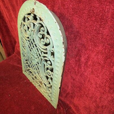 Antique Cast Iron Tombstone Scroll Grate Heating Vent 1879 Works Fine