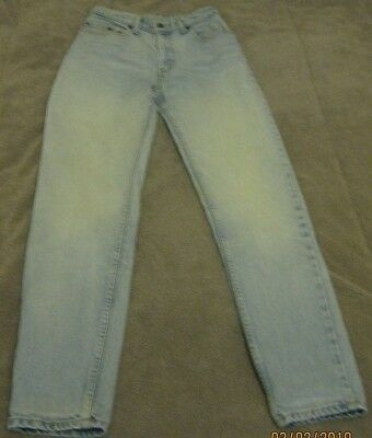Levi Strauss 255, Vintage, Size 12, High Waisted, Faded Jeans - Original Riveted