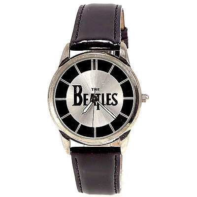 Beatles Collectible Fossil Mans Boxed Watch Numbered X Of 10K Leather Band! $149