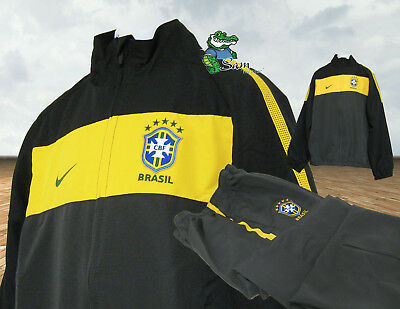 NIKE Boys Girls BRAZIL BRASIL Football Complete Tracksuit XL Age 13-15 Years