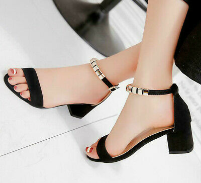 5dc230cd8378 Summer Ladies Metal String Bead Sandals Open Toe shoes Square Heel Women  Shoes