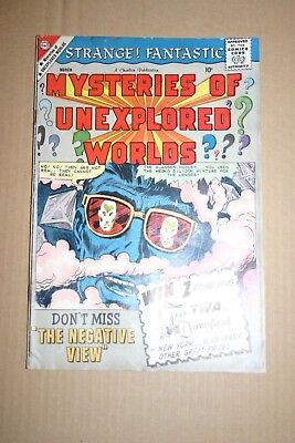 Mysteries of Unexplored Worlds #17 Silver Age comic. Charlton 1960. Vintage art