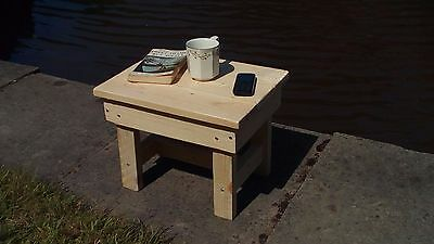 Rustic Wooden Side / Coffee Table. Low stool, small seat, plant stand