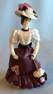 "Liz Sitting Resin 2 1//4/"" tall Minature Victorian Lady Doll figurine PINK"
