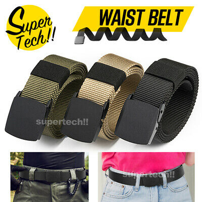 Men Women Outdoor Nylon Canvas Plastic Buckle Belt Tactical Camping Equipment Gi