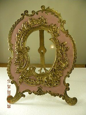 Antique National Brass and Iron Works Victorian Rococo Picture Frame, Gorgeous
