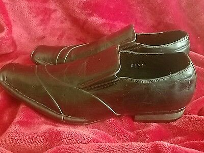 Marco Rossi Faux Leather Loafers Slipon Distressed Black Men's Shoes