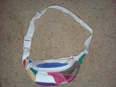 Leather Multi Color Fanny Pack Waist Bag Hip Belt Pouch Travel Purse Women