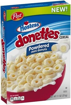 2 x Post Hostess Powdered mini donuts DONETTES Cereal 311g USA! NEW!